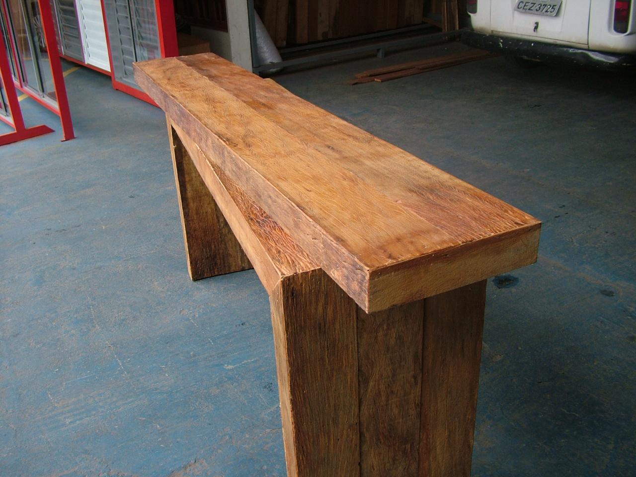 Tampo para balcão em madeira de demolição. Madeira de Demolição #A0612B 1280x960 Bancada Banheiro Madeira Rustica