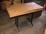 madeira de demolicao -tampo maquina de costura
