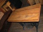 Movel -maquina de costura -madeira de demolicao